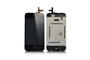 Дисплей LCD iPhone 3G  в сборе с тачскрином, динамиком, кнопкой (черный)