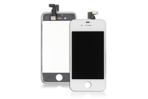 Дисплей LCD iPhone 4 с тачскрином Foxconn (белый)