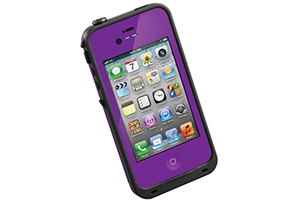 Чехол LifeProof для iPhone 4/4S (фиолет)