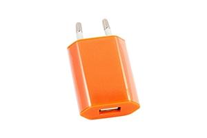 """СЗУ """"LP"""" с USB выходом 1А (оранжевый/европакет)"""