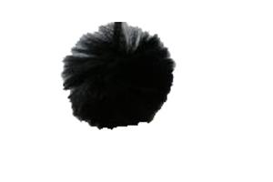 """Брелок """"LP"""" Шарик Пушистый B004 чёрный"""