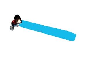 Шнурок на руку R3 гладкий пряжка сердечко (голубой)
