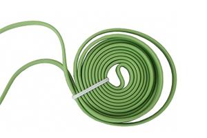 Аудиокабель плоский 1 м. (зеленый/европакет)