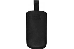"Футляр с ""язычком"" Nokia N97/N900/Samsung D880/HTC Desire X T3 CP-585 черный (кожа упаковка пакетик)"