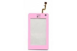 Тачскрин (сенсорное стекло) LG KU990 розовый