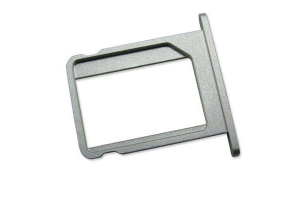Держатель SIM-карты iPhone 4G (металл) серебро