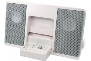 Акустическая система Dock Station для iPhone 4/4S/3G/3GS/iPod PQ-05B Белый (коробка)