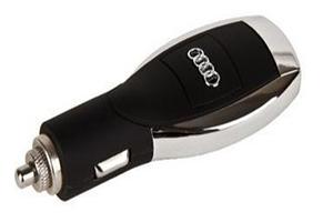 АЗУ универсальное Audi (Черный, 6 разъемов + USB) (коробка)