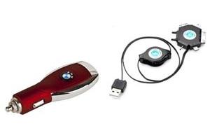 АЗУ универсальное BMW (Красный, 6 разъемов + USB) (коробка)