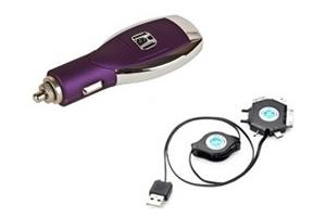 АЗУ универсальное Honda (Сиреневый, 6 разъемов + USB) (коробка)