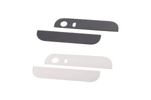 Стеклянные вставки в корпус iPhone 5 (черный) стекло нижнее и верхнее