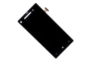 Дисплей HTC 8 X черный, с тачскрином