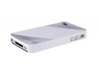 Защитная крышка MORE для iPhone 4/4S металлик пластик + 2 защитные пленки (бордо, блистер)