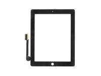 Тачскрин (сенсорное стекло) iPad 4 (черный) с кнопкой Home