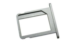 Держатель SIM-карты iPhone 4S (металл) серебро