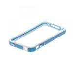 Bumpers для iPhone 4/4S (голубой/белый)
