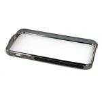 Bumper со стразами для iPhone 5 металл (графит/черные стразы)
