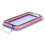 Bumpers для iPhone 4/4S (оранжевый/голубой)