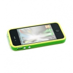 Bumpers для iPhone 4/4S (зеленый/желтый)