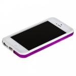 Bumpers для iPhone 4/4S (белый/фиолетовый)