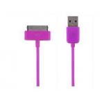 """LED USB Дата-кабель """"Apple Dock"""" для Apple 30 pin (розовый/коробка)"""