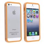Bumpers для iPhone 4/4S (прозрачный/оранжевый)