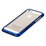 Bumper CLEAVE для iPhone 5 металл/раздвижной (синий)