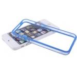 Bumpers для iPhone 4/4S (прозрачный/синий)