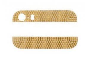 Стеклянные вставки в корпус iPhone 5S (золото) стекло нижнее и верхнее