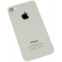 Задняя крышка для iPhone 4S с кристаллом копия (Белый) (упаковка пакет)