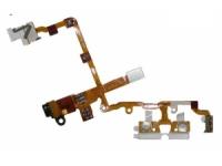 Шлейф/FLC iPhone 3G/3GS (с разъемом на наушники) черный