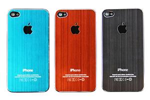 Задняя крышка для iPhone 4S металл (Коричневый) (упаковка прозрачный бокс)