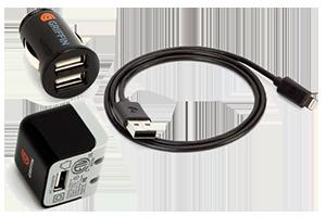 Набор 3 в 1 Griffin для Apple 8 pin сеть/авто/кабель (коробка/черный)