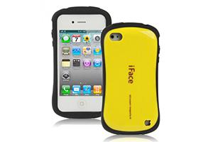 Защитная крышка iFace для iPhone 5/5s (желтый/коробка)