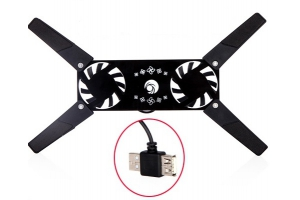 Охлаждающая площадка + 2 USB вентилятора USB Notebook Cooling Pad (C14-A222) (белый цветы)