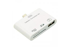 Camera Connection Kit для iPad 4/iPad mini 3 в 1 (MicroSD/SD/USB) (коробка)