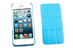 "Защитная крышка для iPhone 5/5S ""Smart Shell"" пластик+кожа (голубая)"