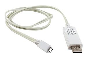 "LED USB Дата-кабель ""Micro USB"" (белый/коробка)"