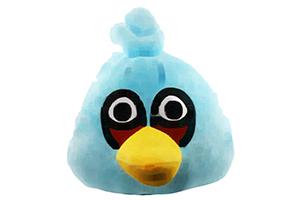 "Колонка ""Wrathful Birds Синяя Птица"" мягкая игрушка  (3,5 мм. питание от 2 х АА) (коробка)"