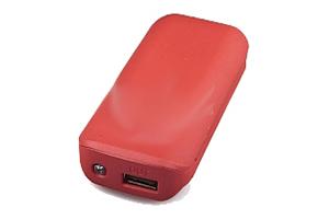 "Внешний АКБ ""MICHL"" (1 USB выход 1А, 5600 мАч, красная)"