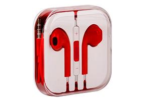 Наушники для iPhone 5/iPad mini/iPad и совместимые (оранжевые/коробка)