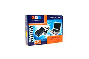 Блок питания сетевой ASX 90W - V1.8 для ноутбуков (8 разъемов/USB) черный (КОРОБКА)