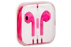 Наушники для iPhone 5/iPad mini/iPad и совместимые (розовые/коробка)