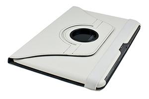 Чехол/книжка для iPad 2/3/4 с поворотным механизмом (кожа/белый) (упаковка коробка)