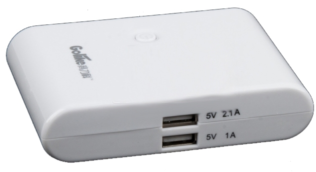 "Внешний АКБ ""Golike"" GLK-608 (2 USB выхода 1А + 2А, 11200 мАч, белый) (коробка)"