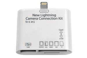 Camera Connection Kit для iPad 4/iPad mini 5 в 1 (Все типы карт/USB) (коробка)