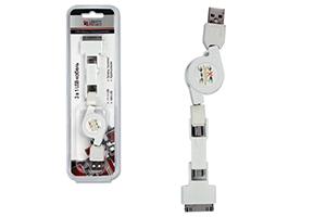 "USB Дата-кабель ""LP"" 3 в 1 (micro USB/mini USB/iPhone)"