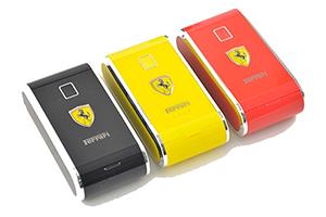 """Внешний АКБ """"Ferrari"""" (1 USB выход 1А, 6000 мАч, черный) (прозрачный бокс)"""