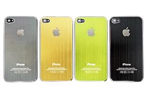 Задняя крышка для iPhone 4 металл (Зеленый) (упаковка прозрачный бокс)