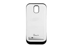 "Дополнительная АКБ ""Power Bank"" защитная крышка для Samsung i9500 3200mA (белый глянец)"